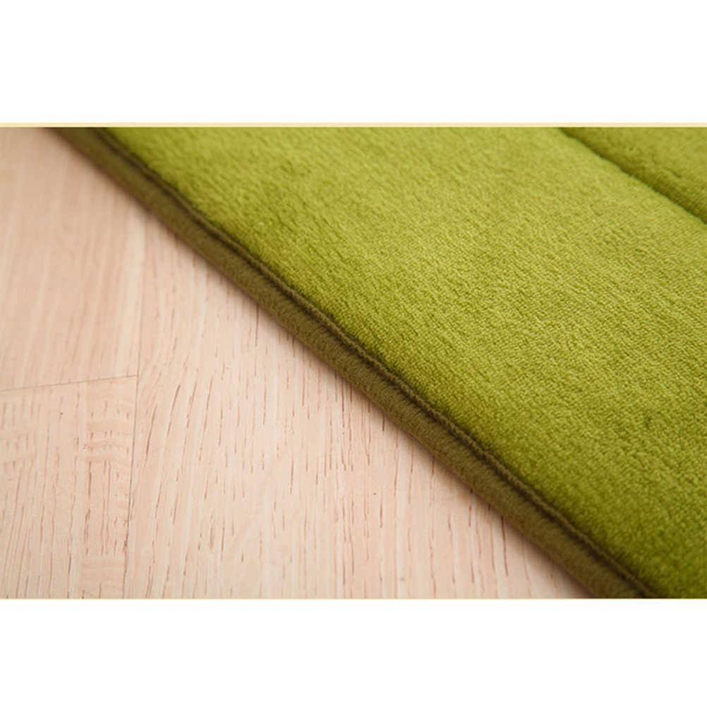 1 шт. 30*50 см напольный коврик однотонный нескользящий в полоску мягкий коврик с памятью формы Коралловое бархатное покрывало для гостиной для ванной, кухни, спальни