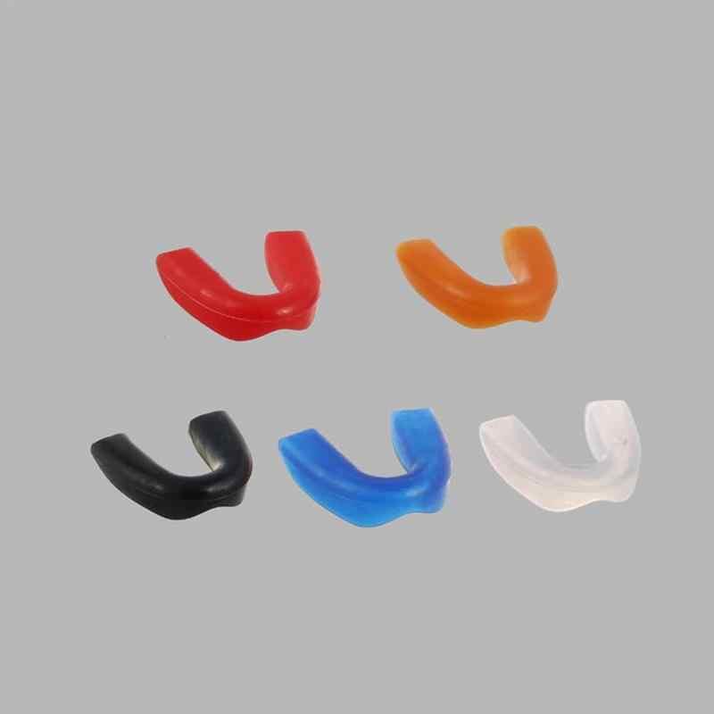 Kebugaran Olahraga Mouthguard Penjaga Mulut Gigi Protector untuk Tinju MMA Sepak Bola Karate Muay Thai Safety dengan Kotak Plastik