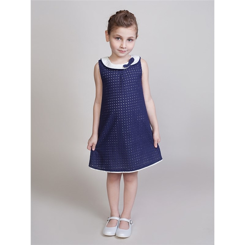 Dresses Sweet Berry Textile dress for girls children clothing girls tie neck polka dot dress