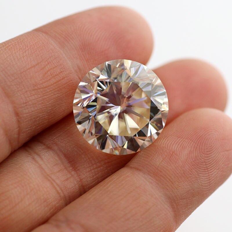 0.8ct Ij 6mm Gelb Farbe Ausgezeichnete Cut Vvs Diamant Test Positive Für Immer Eine Lose Moissanite Steine Für Ring Ohrring Armband