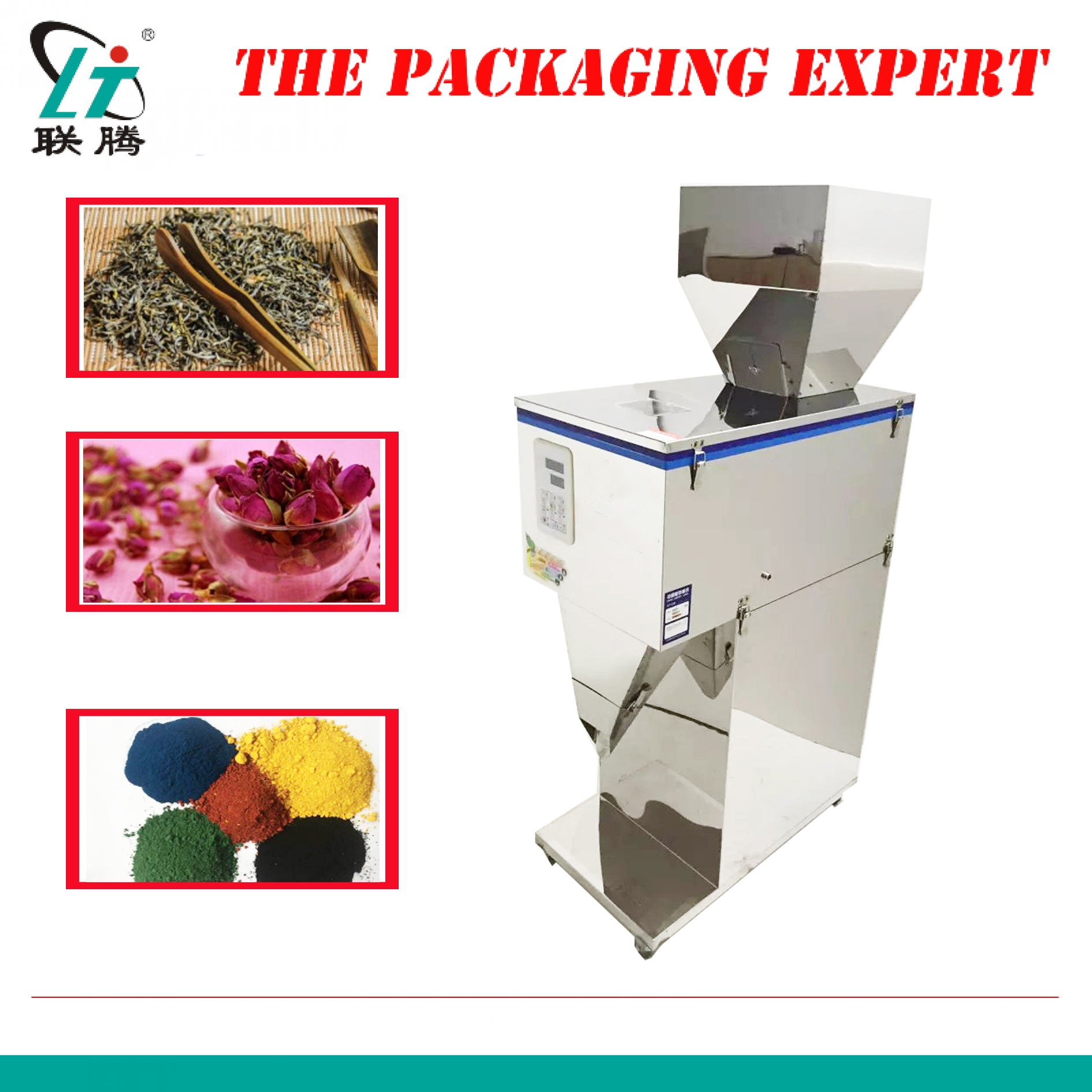 2500g Automatic Scale Filling And Weighing Machine Tea Leaf Grain Medicine Seed Salt Rice Flour Packing Red Dates Powder Filler