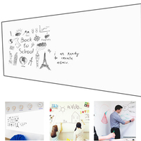 60*90CM White Board Ferromagnetic Film Magnet Whiteboard Wall Sticker with 6 Nail Office Decoration Flexible Self Adhesive Film