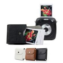 Durumda Fujifilm Instax Mini 9 depolama Retro deri düğme çantası fotoğraf çantası Fujifilm Mini 8 SQ10 SQ6 SQ20 SP3 kamera çantası