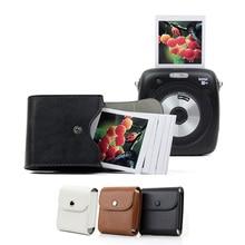 מקרה עבור Fujifilm Instax מיני 9 אחסון רטרו עור כפתור פאוץ תמונה מקרה Fujifilm מיני 8 SQ10 SQ6 SQ20 SP3 מצלמה תיק