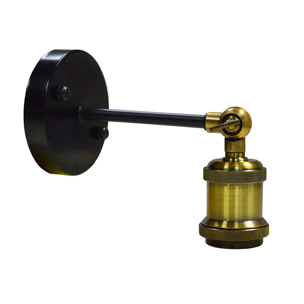 Vintage Industrial Wall Sconce Lights Wand lamp Retro Wall Lamp E27 holder Indoor Bedroom Bathroom Balcony Bar Aisle Lamp base