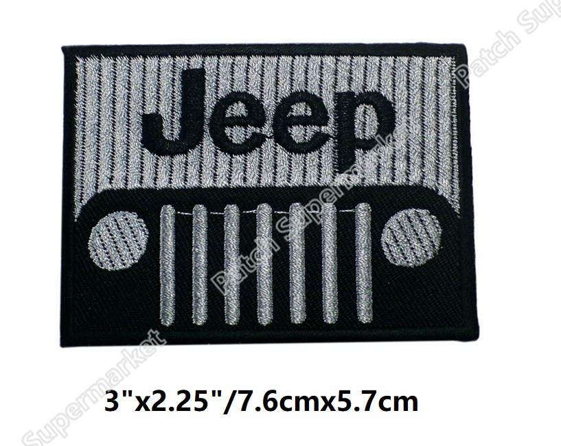 3 Jeep Patch TV Movie Film Game series Halloween Cosplay Costume Embroidered iron on badge Cartoon