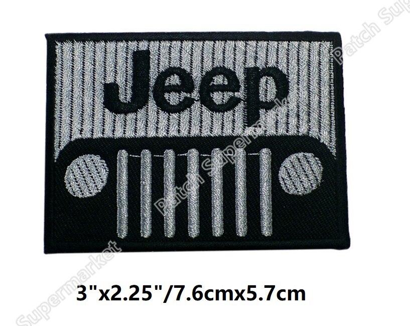 """3 """"Jeep Patch ภาพยนตร์โทรทัศน์เกมฮาโลวีนคอสเพลย์เครื่องแต่งกายปักเหล็กบน badge การ์ตูน applique-ใน แผ่นแปะ จาก บ้านและสวน บน   1"""