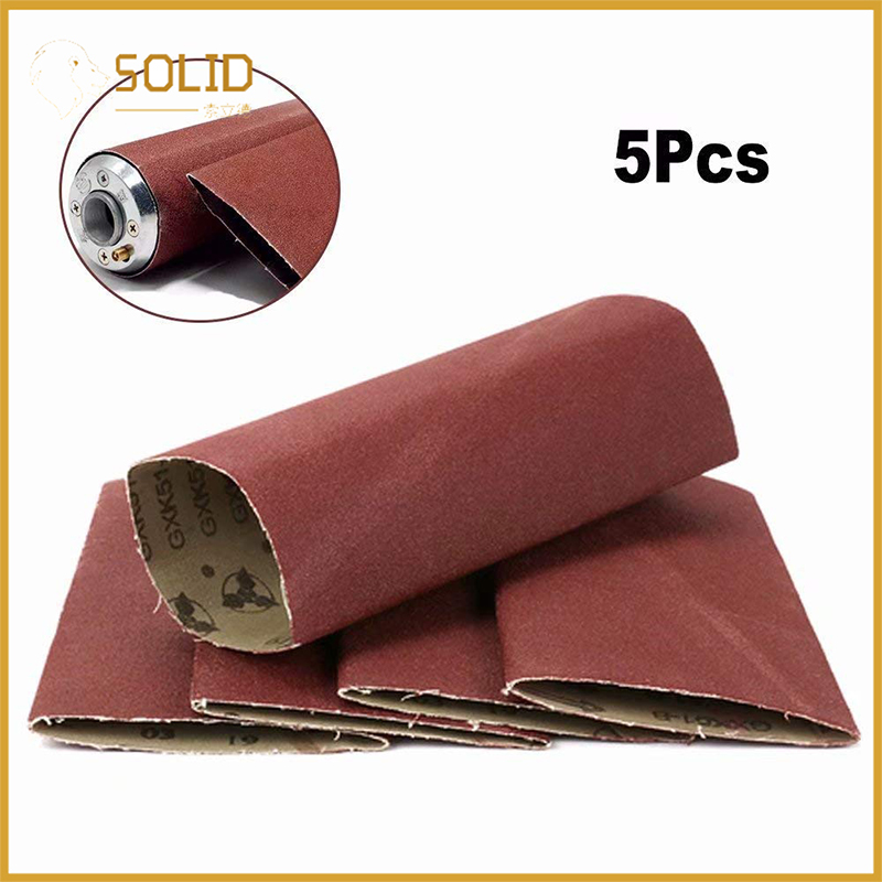 5pcs Polishing Sanding Belt Fits 3x9 Expandable Rubber Drum Sander For Wood Furniture And Other Non-metal Polishing 60~180# Tools