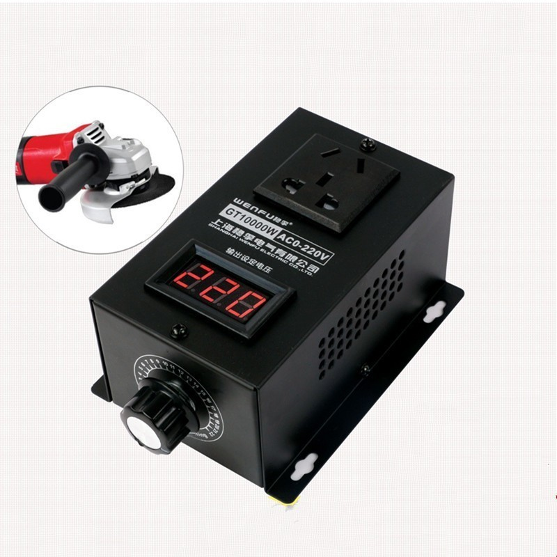 10000W High power Silicon Electronics Voltage Regulator Machinery Electric Variable speed controller  0V 220VMotor Controller   -