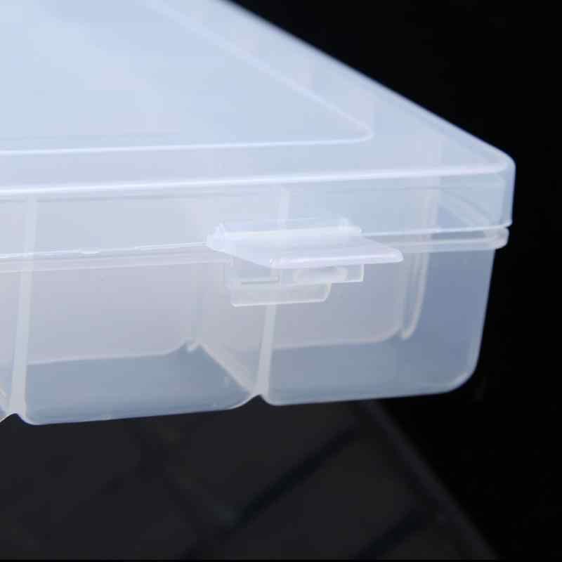 10/15/36 Girds Plastic Storage Box Adjustable Jewelry Makeup Storage Organizer Box Cosmetic Make Up Storage Container Case