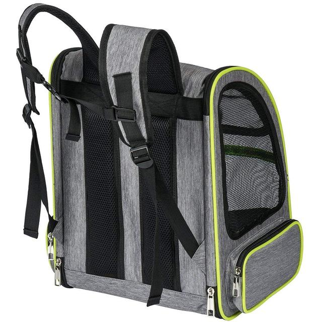 Classic Dark Gray Backpack for Small Dogs