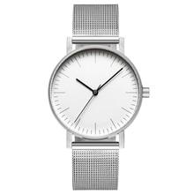 Bauhaus Minimalist Style Leather Watch Swiss Rhonda 763 Movement Minimal 36mm St