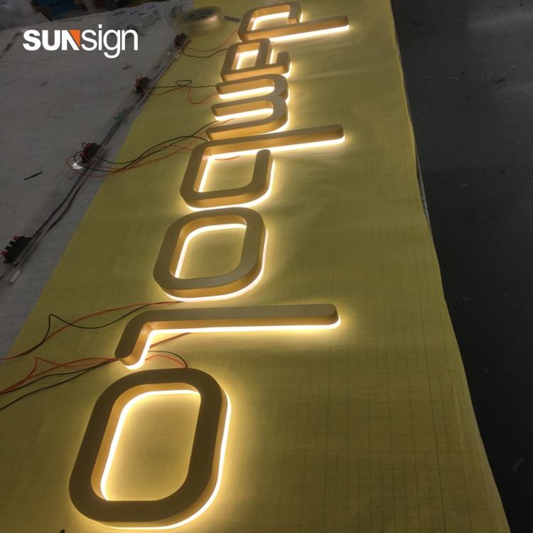 Waterproof Light Up Letters 3D LED Backlit Signage Logo Sign Company Logo Name