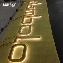 Waterproof Light Up Letters 3D LED backlit signage logo sign company name