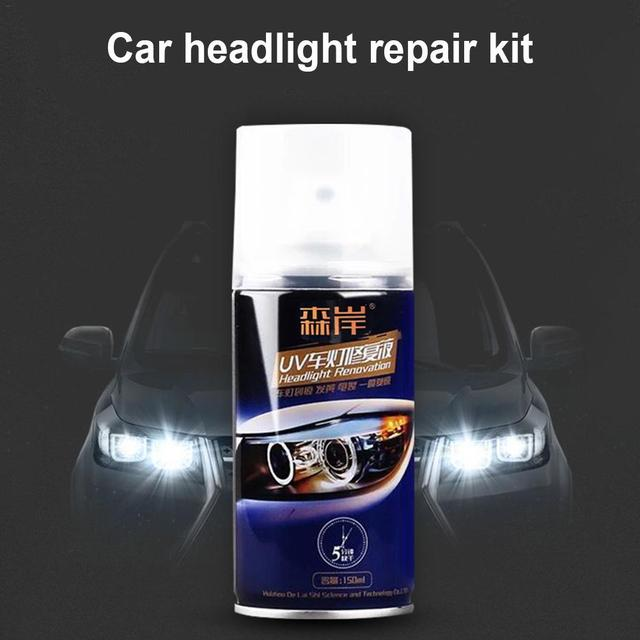 150ML 4H Hardness Car Headlight Restoration Kit Repair Liquid Spray Polishing Coat Repair Agent Scratches Oxidation 1