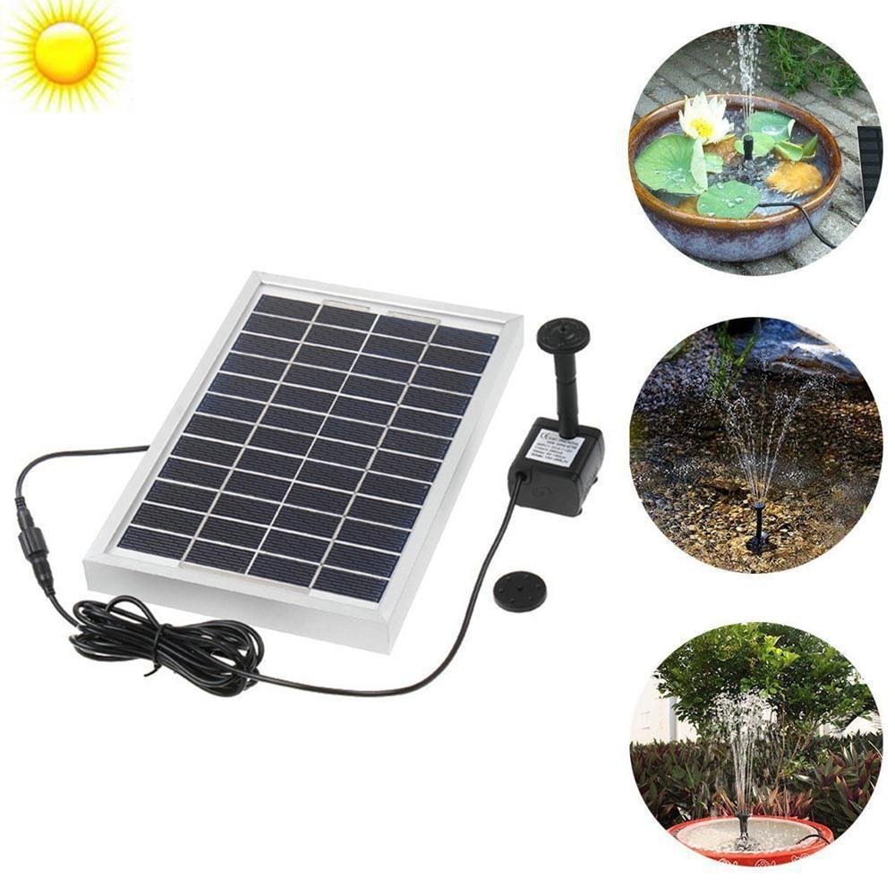 12V 5W Solar Power Brushless Water Pump Built-in Storage Battery Remote Control Submersible LED Pump Fountain For Garden Pond
