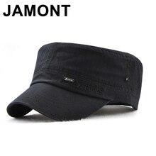 Jamont Stile Militare della protezione del Cadetto Berretto Militare Delle  Donne Degli Uomini di Colore Puro 398c309374f1