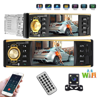 4.1 inch One Din Car Radio Audio Stereo AUX FM Radio Station Bluetooth Auto radio with Rear View Camera Remote Control