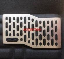 Universal Black Anti-Skid Steel Footpad Plate Foot Rest Pedal Floor Mats Carpet Pad For Car Suv Truck