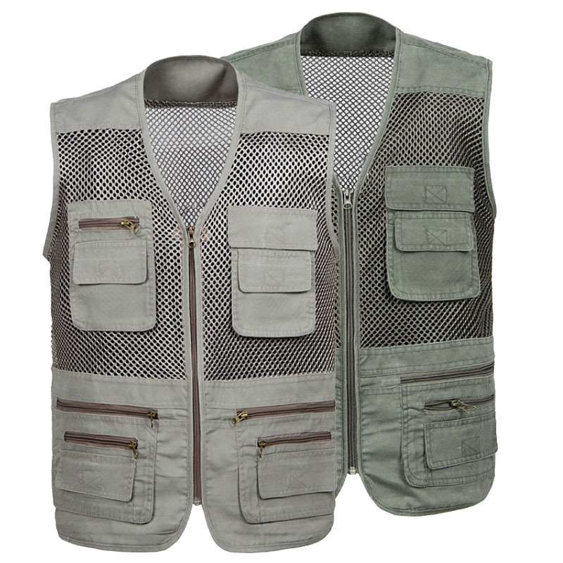 Active Refire Gear Outdoor Men Fishing Vest Summer Hunting Vest Fish Hike Jackets Breathable Quick Dry Multi-pockets Professional Vest
