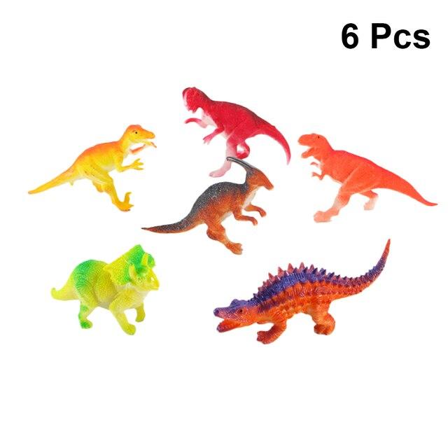Ornamentos Estáticos 6 PC Modelo de Dinossauro Crianças Enigma Educacional Sólida Animal Dinossauro de Brinquedo para Crianças
