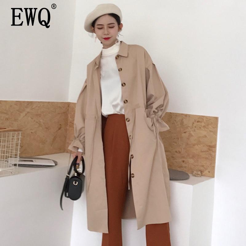 reputable site af98b 90c0e EWQ-2019-Nouveau-Femmes -Col-Carr-Manches-Longues-L-che-Ourlet-Bouton-Bouton-Dentelle-Up.jpg