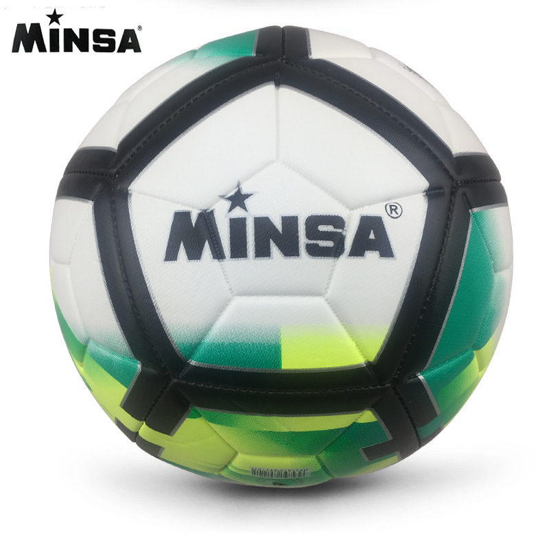 2019 New Brand MINSA High Quality A Standard Soccer Ball PU Soccer Ball Training Balls Football