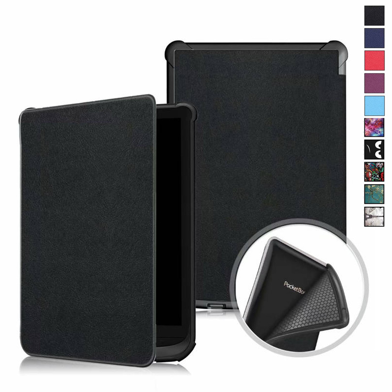 PU Leather Case for <font><b>Pocketbook</b></font> 627 <font><b>616</b></font> 632, Ultra Slim Magnetic Smart Cover for <font><b>PocketBook</b></font> Touch Lux 4/Basic Lux 2/Touch HD 3 image