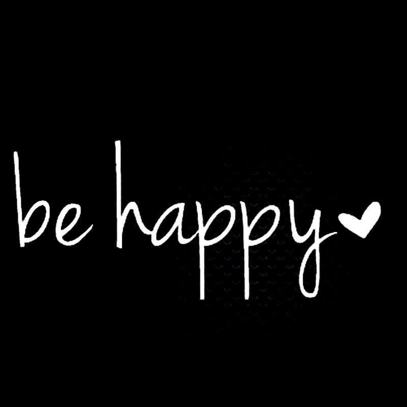 Be Happy Heart Lovely Vinyl Decal Sticker Laptop Phone Car Styling Vinyl Decor Decals in Car Stickers from Automobiles Motorcycles
