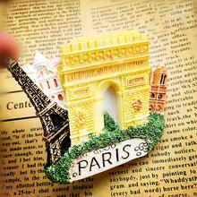 Refrigerator Stickers France Paris Eiffel Tower Triumphal Arch Notre Dame Innovative Magnetic Tourist Souvenirs p40