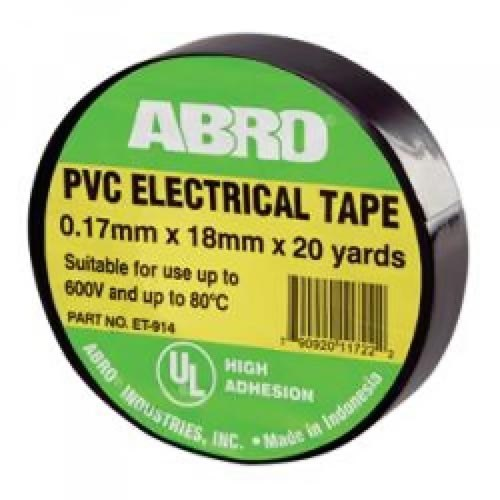 Electrical Tape high temperature resistant ABRO ET-914-BLK Black, 0,18 * 20yd (18,2 M) [vk] travel switch limit switches wlca12 2n silver contact thickness aluminum high temperature resistant