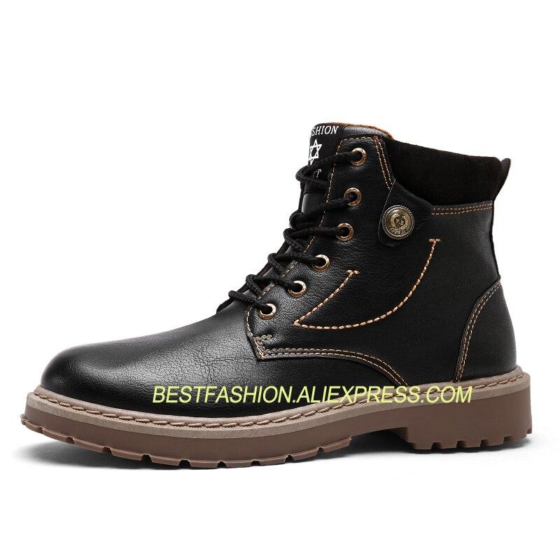 Homens Bottes Martin Plus Dos Botas Motocicleta Size39 44 gray Sapatos Cheville H4 Richelieus Black brown Outono Moda YXxqn4qpU
