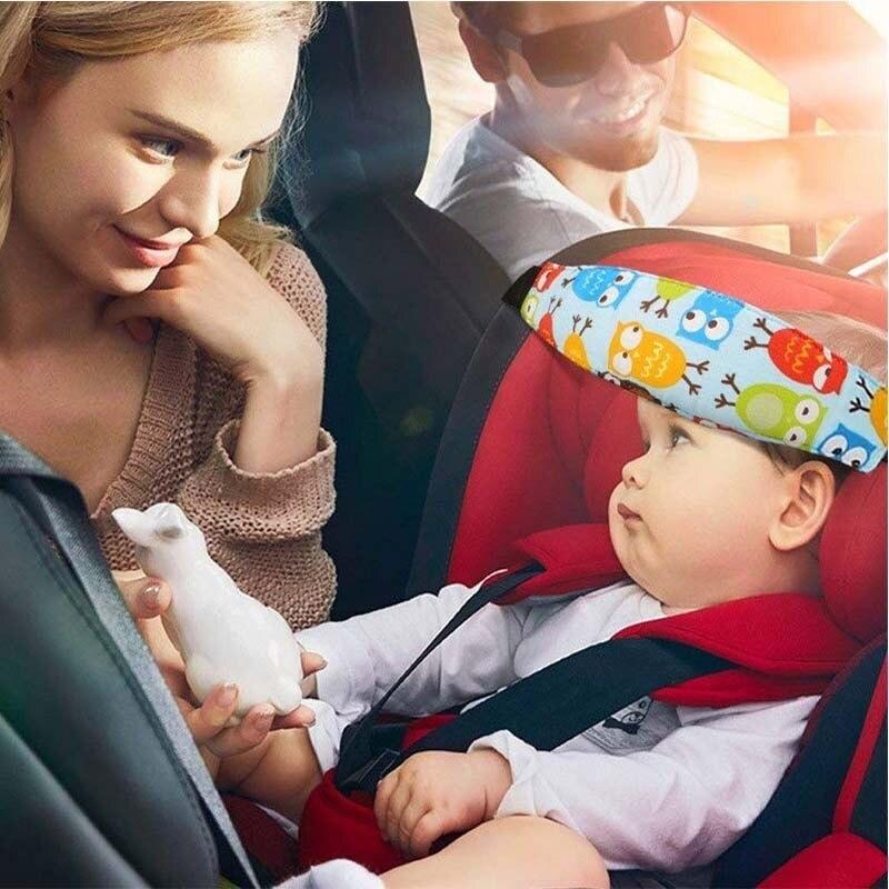 Baby Head Fixing Brace Child Car Safety Seat Headrest Sleep Aid Belt Strap Band
