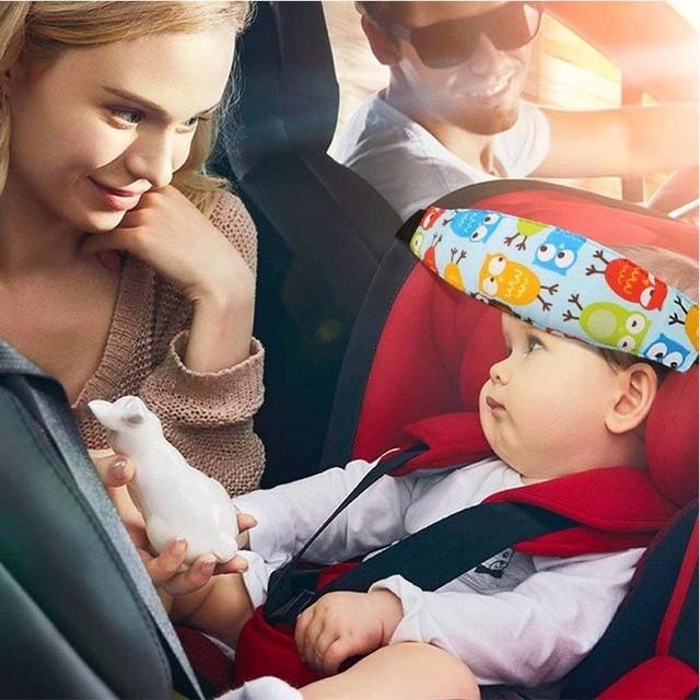 Coche reposacabezas del asiento dormir ayuda Correa banda de la cabeza del bebé de Brace