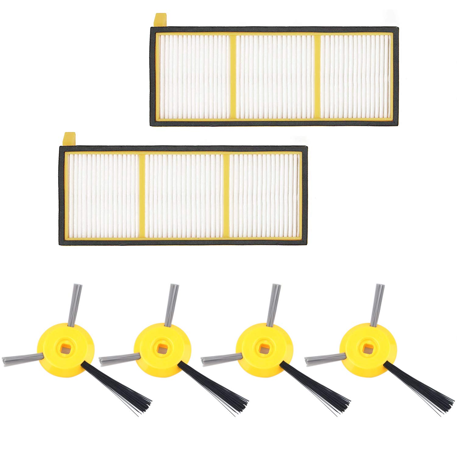 Knowledgeable Vacuum Filter And Side Brushes Replacement Kit For Shark Ion Robot Rv700 Rv720 Rv750 Rv750c Rv755 Vacuum Cleaner Parts includes 4 Side Brushes 2fi Attractive Fashion