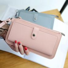 Women Wallets Fashion Long PU Leather Wallet Carteira Feminina Card Holder Female Purse Clutch Money Women Wallet Coin Purse#125 kandra fashion plain pu leather heart charms women wallet long clutch card holder coin purse vegan zippered wallet 2019