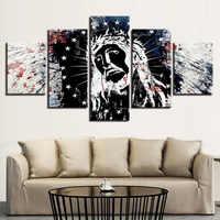 Diamante pintura cristã jesus retrato cinco pedaço sala de visitas home office restaurant fundo pintura decorativa