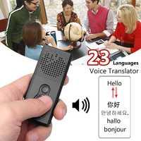 23 языков переводчик портативный Bluetooth Wifi умный голосовой переводчик 2 способа в режиме реального времени перевод для обучения встречи бизне