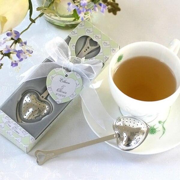 Heart Design Spoon Tea Infuser Filter Wedding Souvenir Bridal Shower Favor Gift  DC112