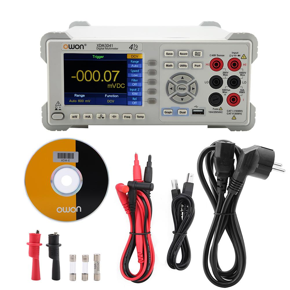 OWON Digit Multimeter XDM3041 4 1 2 Digit Dual Display USB RS232 LAN 480 x 320