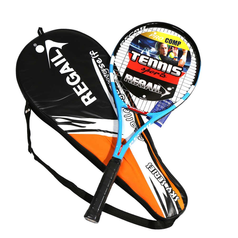 Tennis Racket Carbon Fiber Aluminium Tennis Racket Racquets Equipped Tennis Racket with Bag Tennis Grip For Training