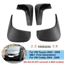 Auto Spatlappen Splash Guards Spatborden Spatlappen Spatbord Voor Achter Voor VW Touran 2003 2009 Caddy 2004 2009