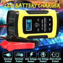 Leory 110-220V 12V 6A Pulse-Repair Battery Charger for Autom