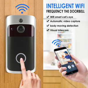 Image 5 - חכם WiFi וידאו פעמון מצלמה חזותי אינטרקום עם פעמון נמוך צריכת חשמל דלת פעמון אלחוטי אבטחת בית מצלמה