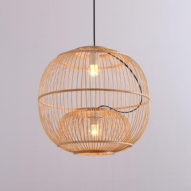 Lampe de chambre ronde 2 lumières avec abat-jour