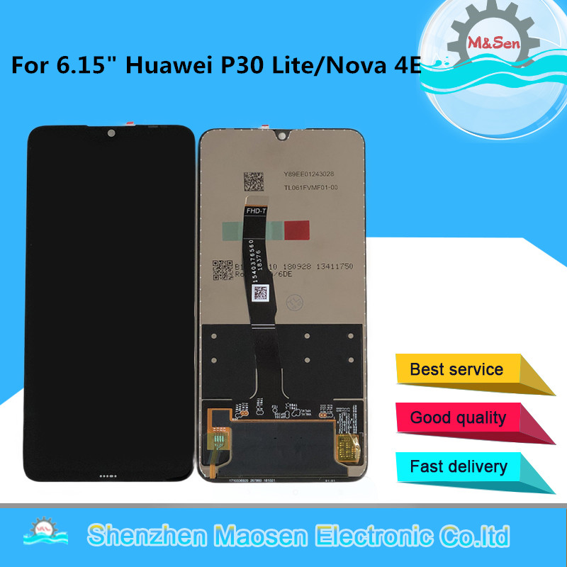 Original M Sen For 6 15 Huawei P30 Lite MAR LX1M MAR LX2J LCD Display Screen