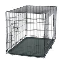 Pet домик для кошки собака складной стальной ящик животных манеж проволочная металлическая сетка клетка для собак Щенок ящик дом клетка с ло...