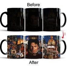 Кружка для кофе с изменением цвета из керамики Майклом Джексоном