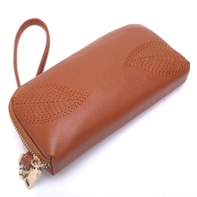 Hand Zipper Purse Womens Wallet Fashion Small Fresh Long Paragraph Simple Mobile Phone Bag Bills Folder