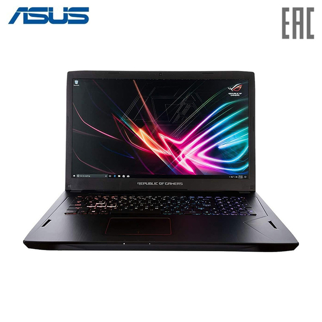"Ноутбук ASUS ROG GL703GM Intel i7 8750H/16Gb/1Tb/No ODD/17.3"" FHD/NVIDIA GeForce GTX 1060 3Gb GDDR5/Camera/Wi-Fi/No OS/Black (90NR00G1-M04630)"